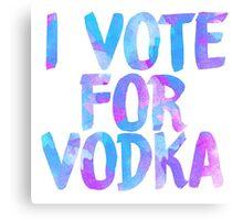I love vodka college party sticker Canvas Print