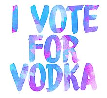 I love vodka college party sticker Photographic Print