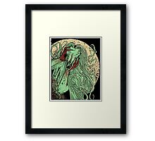 heartless ram faced lady Framed Print