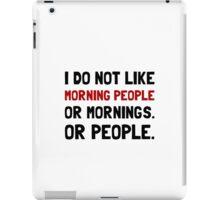 Morning People iPad Case/Skin
