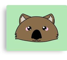 Just a very cute wombat -  Australian animal design Canvas Print