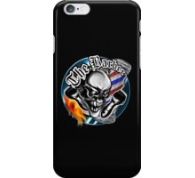 Barber Skull with Flaming Razor iPhone Case/Skin