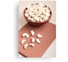 Raw cashew nuts for vegetarian food Canvas Print
