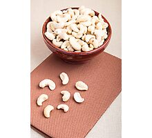 Raw cashew nuts for vegetarian food Photographic Print