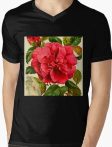Vintage rose,floral,flower,rustic,reproduction,shabby chic,country Mens V-Neck T-Shirt