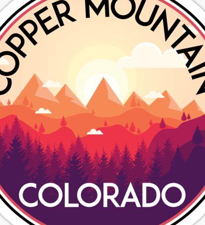 COPPER MOUNTAIN COLORADO Ski Skiing Mountain Mountains Skiing Skis Silhouette Snowboard Snowboarding 2 Sticker