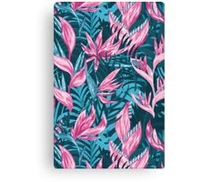 Hand draw tropical flowers  Canvas Print