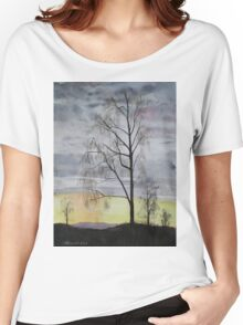 Winter Sunset Skies Women's Relaxed Fit T-Shirt