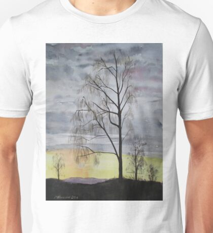 Winter Sunset Skies Unisex T-Shirt