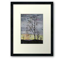 Winter Sunset Skies Framed Print