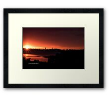 Bursting Sunset Framed Print