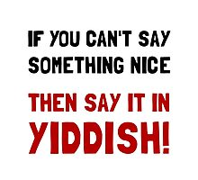 Say It In Yiddish Photographic Print
