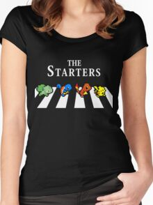 The Starters Unisex T Shirt Inspired by Pokemon Retro GameBoy Red Blue Abbey Road Women's Fitted Scoop T-Shirt