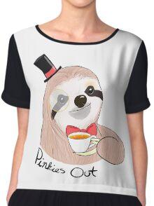 Pinkies Out Sloth Chiffon Top