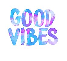 Good vibes laptop sticker free spirit trendy  Photographic Print