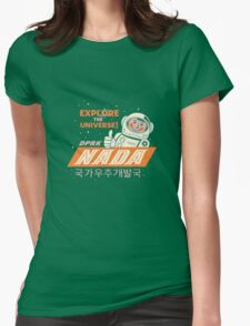 Nada - North Korean Space Agency Womens Fitted T-Shirt