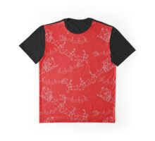 Santa and his reindeers christmas pattern Graphic T-Shirt