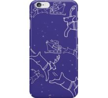 Santa and his reindeers christmas pattern iPhone Case/Skin