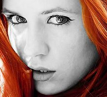 Karen Gillan Black and White by Themaninthefez