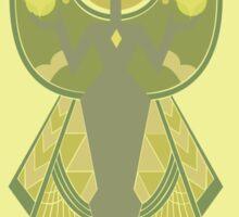 Yellow Diamond Cave Painting Sticker