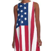 American Flag A-Line Dress