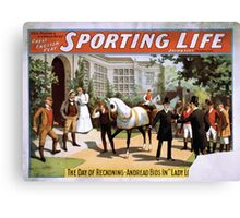 Performing Arts Posters Cecil Raleigh Seymour Hicks great English play Sporting life 2030 Canvas Print