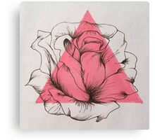 Pen and Ink Rose Canvas Print
