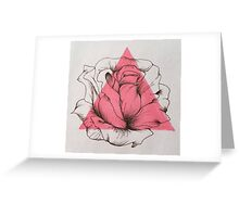 Pen and Ink Rose Greeting Card