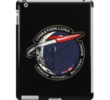 Journey Into Space - Operation Luna Mission Patch - Distressed iPad Case/Skin