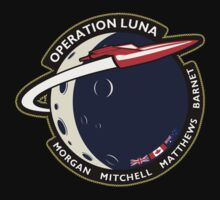 Journey Into Space - Operation Luna Mission Patch Kids Clothes