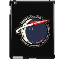 Journey Into Space - Operation Luna Mission Patch iPad Case/Skin