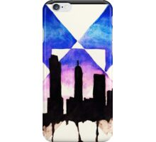 Watercolour City Painting iPhone Case/Skin