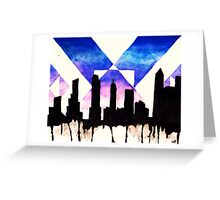 Watercolour City Painting Greeting Card