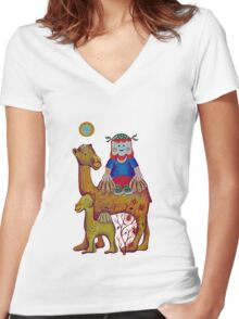 Fun in the Sun Women's Fitted V-Neck T-Shirt