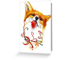Fox Watercolor Greeting Card