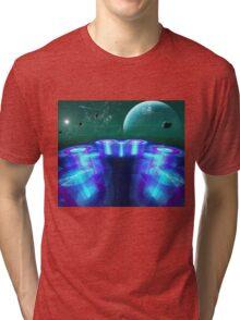 galactic landing zone at the  medri 8 space stop Tri-blend T-Shirt