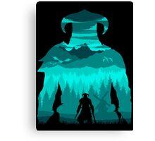 Dragonborn Silhouette Canvas Print