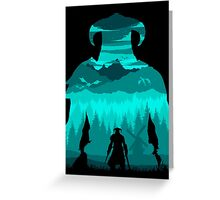 Dragonborn Silhouette Greeting Card