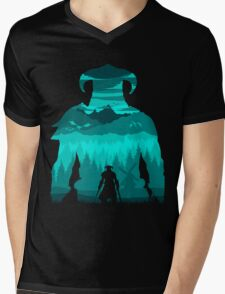Dragonborn Silhouette Mens V-Neck T-Shirt