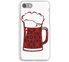 Red,Black,Beer,Mug,Lace iPhone Case/Skin