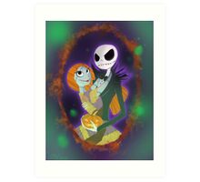 The Pumpkin King and Queen Art Print