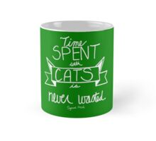 Time With Cats Green Mug