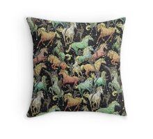Ninjas+Unicorns Throw Pillow