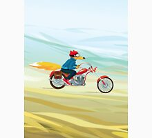 Fox-Man on a Red Motorcycle Unisex T-Shirt