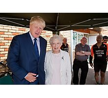 June Whitfield  & Boris Johnson Photographic Print