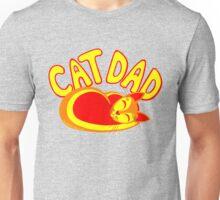 Cat Dad Orange Yellow Red Cute Cat Lover Design Unisex T-Shirt