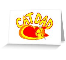 Cat Dad Orange Yellow Red Cute Cat Lover Design Greeting Card