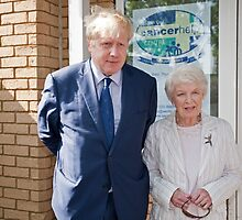 June Whitfield & Boris Johnson Maylor of London by Keith Larby