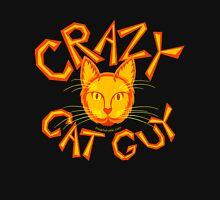 Crazy Cat Guy In Orange Cat Lover Design Unisex T-Shirt