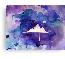 Watercolour Mountain Canvas Print